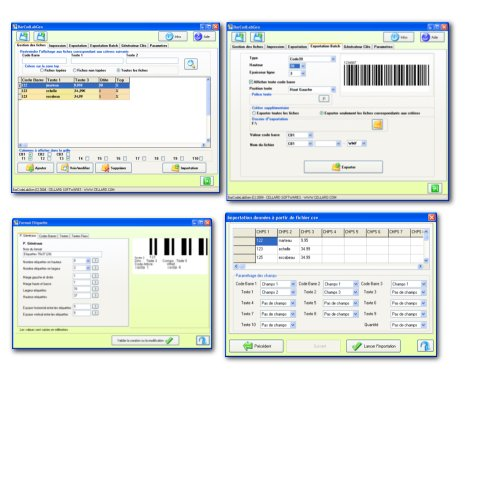 Generate and print barcodes . labels printing with up to 3 barcodes