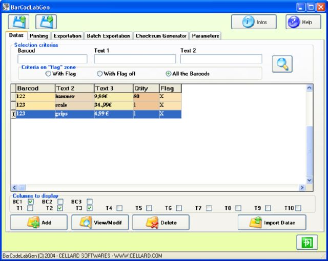 BARCODLABGEN Screenshot